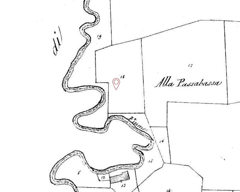 Ca' Olivassi-mappa antica